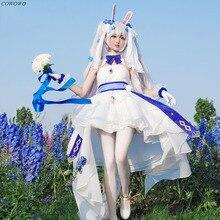 Anime! Azur Lane Laffey Hochzeit Kleid Weiß kaninchen und eid Haut Uniform Cosplay Kostüm Halloween Anzug Frauen NEUE Kostenloser Versand