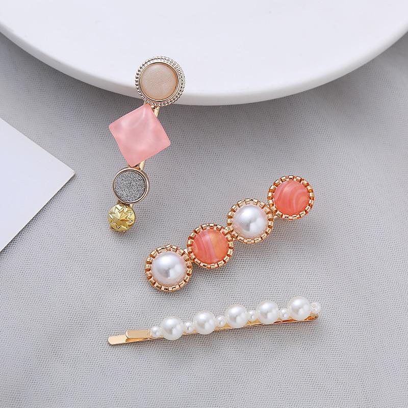 3 piece set of Korean net red Macaron hairpin hair headdress Korean version of bangs clip hairpin simple small fresh side clip