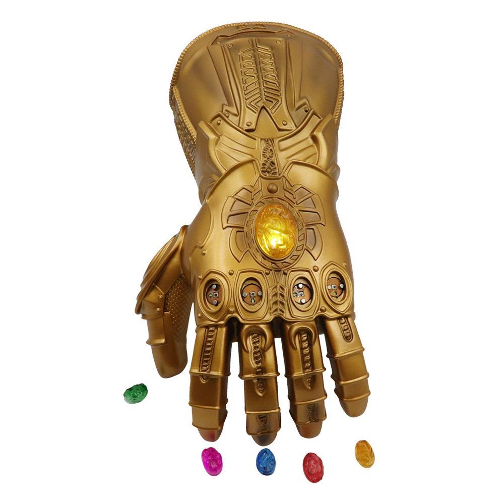 De adulto hierro hombre guante de Thanos Guantelete del Infinito guantes de PVC Accesorios Cosplay Thanos guante con 6 LED magnético piedras infinito