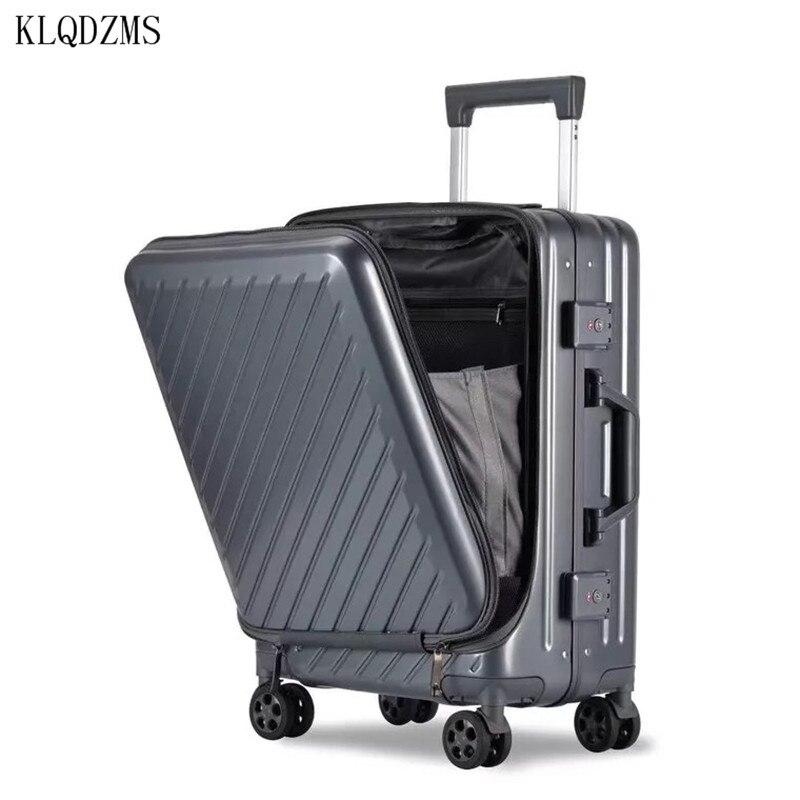 KLQDZMS новая деловая дорожная сумка, катающийся чемодан на колесиках с сумкой для ноутбука 20 дюймов 24 дюйма, мужской чемодан на колесиках