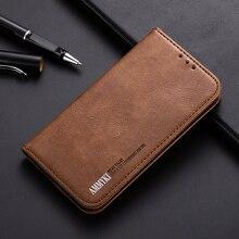 AMMYKI New luxuryBlack metal button wallet flip wallet leather phone back cover case 5.95For Meizu 15 Plus case