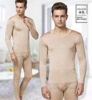 100% Mulberry Silk Men\'s Base Layer Long Johns Warm Thermal Underwear Set 3XL HY125