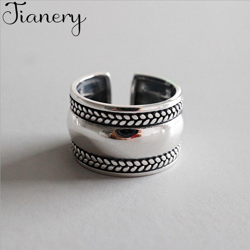 JIANERY богемные модные серебряные гладкие кольца для женщин Ретро ювелирные изделия для помолвки Оптовая Продажа