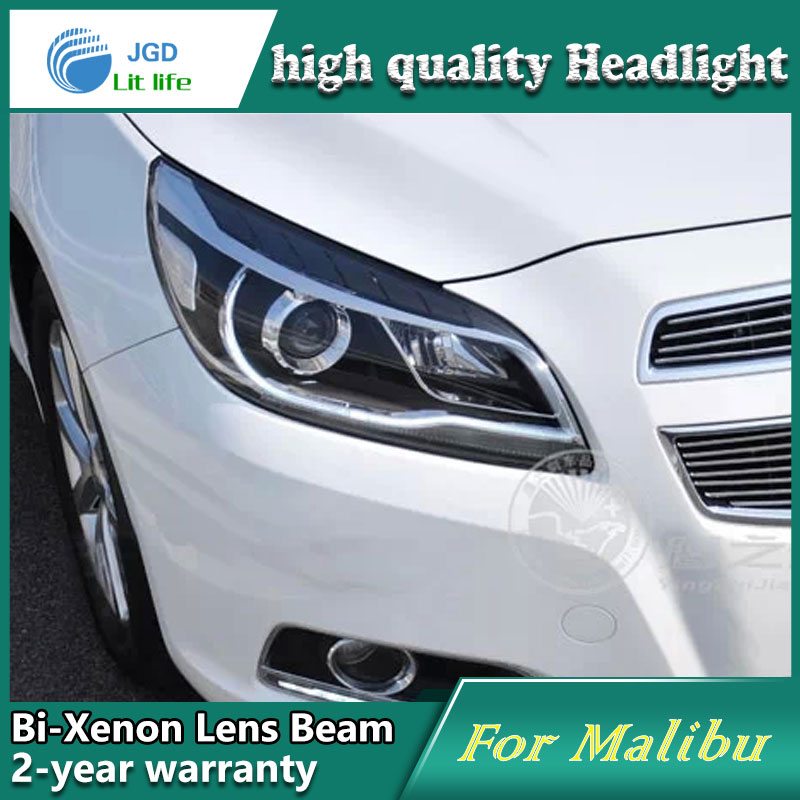 Car styling case for Chevrolet Malibu 2013 Headlights LED Malibu Headlight DRL Lens Double Beam HID Xenon Car Accessories