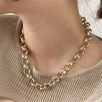 new punk big chains chokers necklaces for women vintage metal circle choker statement necklace goth jewelry 2020