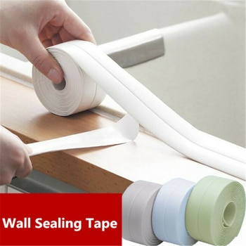 3.2M Bathroom Shower Sink Bath Sealing Strip Tape White PVC Self-Adhesive Waterproof Wall sticker for Bathroom Kitchen