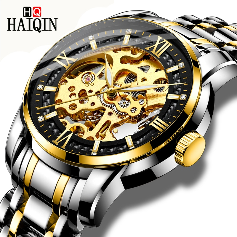Haiqin relógios masculinos esporte/automático/mecânico/mliltary relógio masculino relógio de pulso relógios masculinos marca superior luxo relogio mecanico