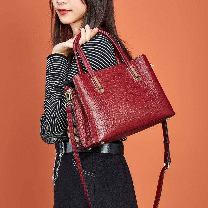 2021 جلد طبيعي فاخر مصمم السيدات حقيبة يد المحافظ وحقائب اليد للنساء Crossbody حقائب كتف براثن الإناث حمل