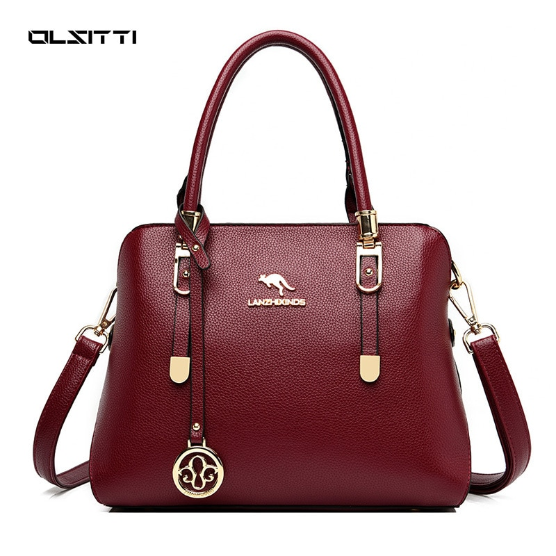 OLSITTI New Fashion High Quality Hand Bags For Women 2020 Pu Leather Large Capacity Shoulder Casual