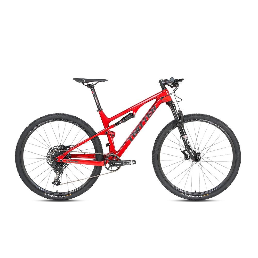 Hot Sale Wholesale TWITTER OVERLOAD 29er disc brake full suspension bicycle carbon fiber mountain bike