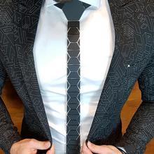 Géométrique élégant mode noir mat diamant forme cravates classique Style Skinny hommes noir cravates