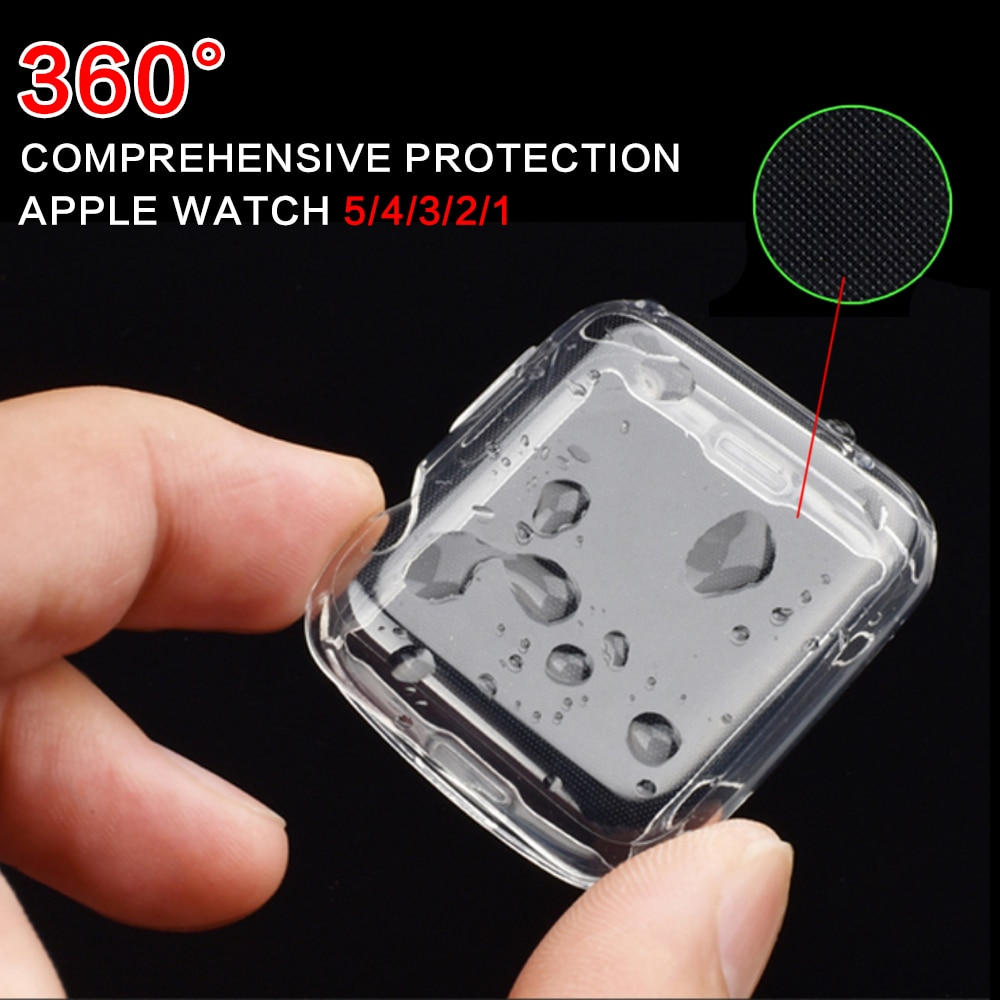 cartoon style protective frame bumper anti scratch case for iwatch 5 4 3 2 1 tpu cover full case for apple watch 44 40 42 38mm TPU bumper for Apple Watch 4 5 case 44mm 40mm iWatch band 42mm 38mm Screen Protector case Cover Apple watch 5 4 3 2 Accessories