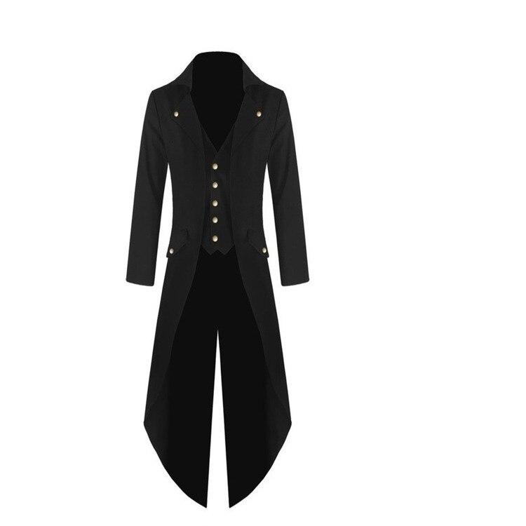 New Style Men's Fashion Coat Trench Coat Steampunk Style Jacket Men's Dress