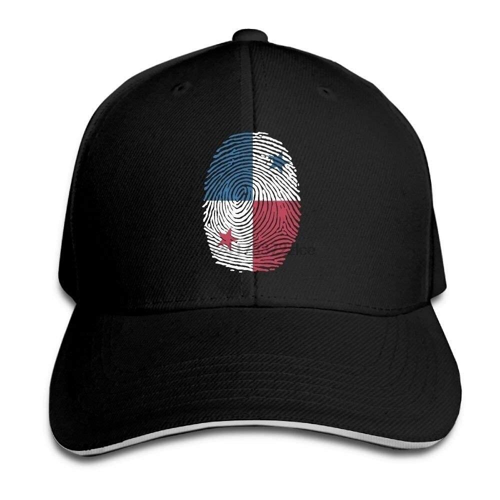 Männer Frauen Trucker Cap Panama Flagge Fingerprint Einstellbar Klar Hut