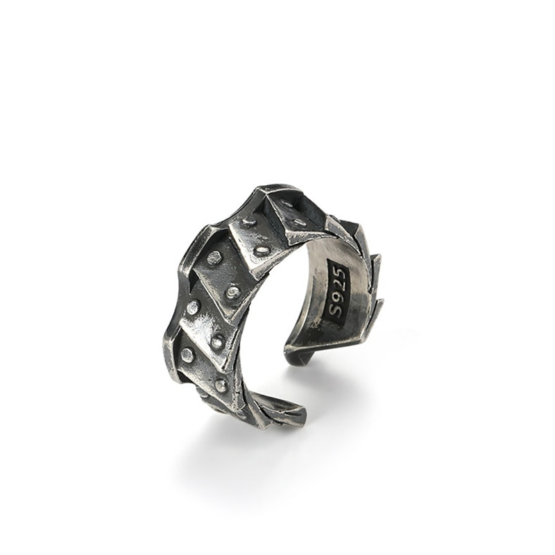 Ring for Men's Locomotive Gear Retro Open Ring Personality Creative Niche Design Jewelry Gift