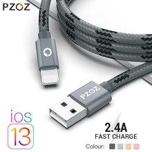 PZOZ Usb Kabel Für iphone kabel 11 pro max Xs Xr X SE 2 8 7 6 plus 6s 5s ipad air mini 4 schnelle lade kabel für Iphone ladegerät