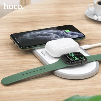 HOCO 3 in1 Wireless Charger for iphone 11 Pro X XS Max XR for Apple Watch 5 4 3 2 Airpods Pro Fast Charger Stand For Samsung S20