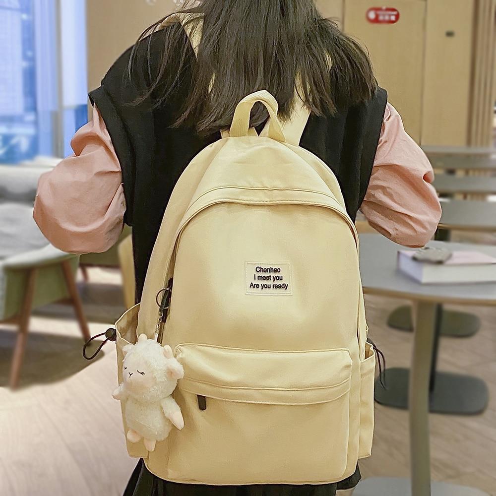 Trendy Lady Cool Laptop College Bag Fashion Female Waterproof Student Backpack Women School Kawaii B