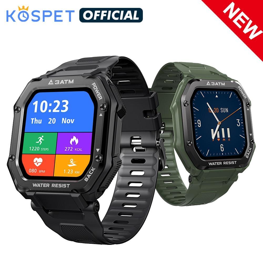KOSPET 2021 Smart Watch ROCK Rugged Watch For Men Outdoor Sports Waterproof Fitness Tracker Blood Pressure Monitor smartwatch