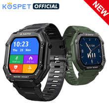 Смарт часы 2021 KOSPET ROCK прочные мужские часы для спорта на открытом воздухе Водонепроницаемый фитнес-трекер монитор кровяного давления Смарт-...