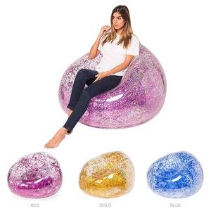 Bag Air Sofa Waterproof Glitter Inflatable PVC Chair Beach Party Home Office DC156
