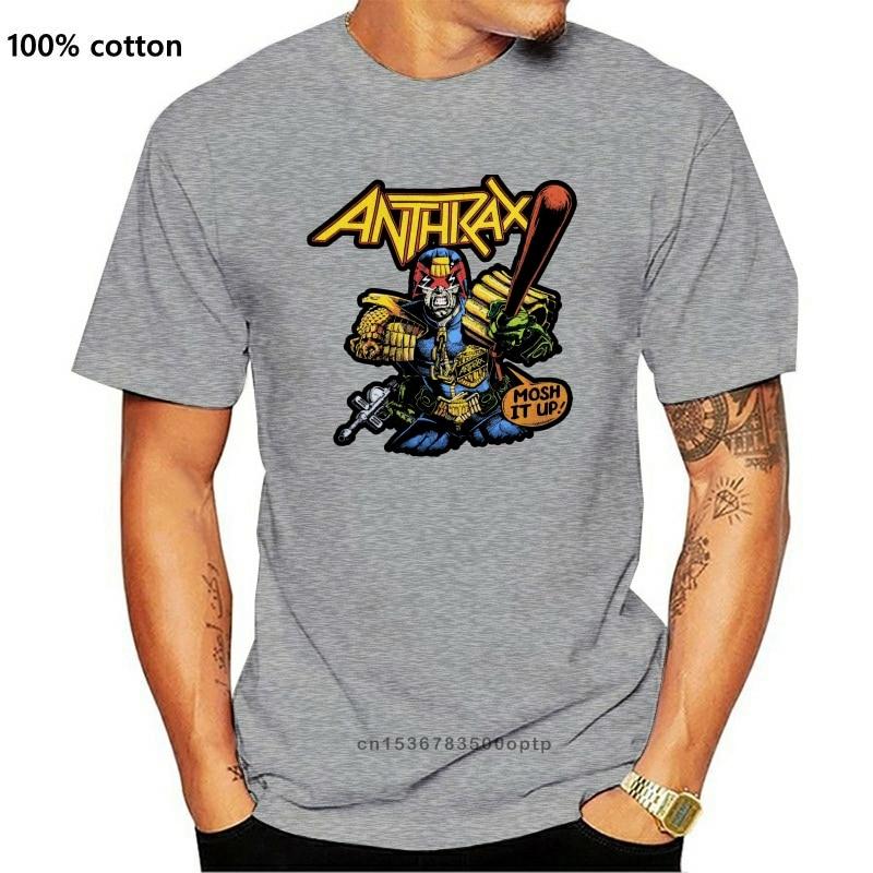 Vintage 1988 Anthrax Beurteilen Dredd Mosh Es Up Tour männer Rock T Shirt frauen t-shirt