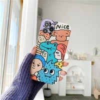 iphone case fun cartoon crowd little monster apple xsmax mobile phone shell xr suitable for iphone11pro78plus soft