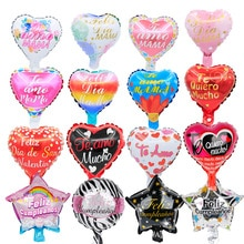 10pcs 10inch Spanish mother day Feliz Dia foil balloons Te Amo mama balls birthday party decorations