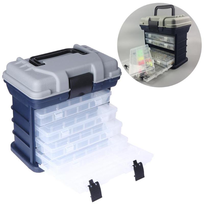 Caja de contenedor para Señuelos de Pesca de 5 capas, caja de almacenamiento duradera para aparejos de pesca, estuche para almacenamiento portátil, caja de almacenamiento para equipo de pesca