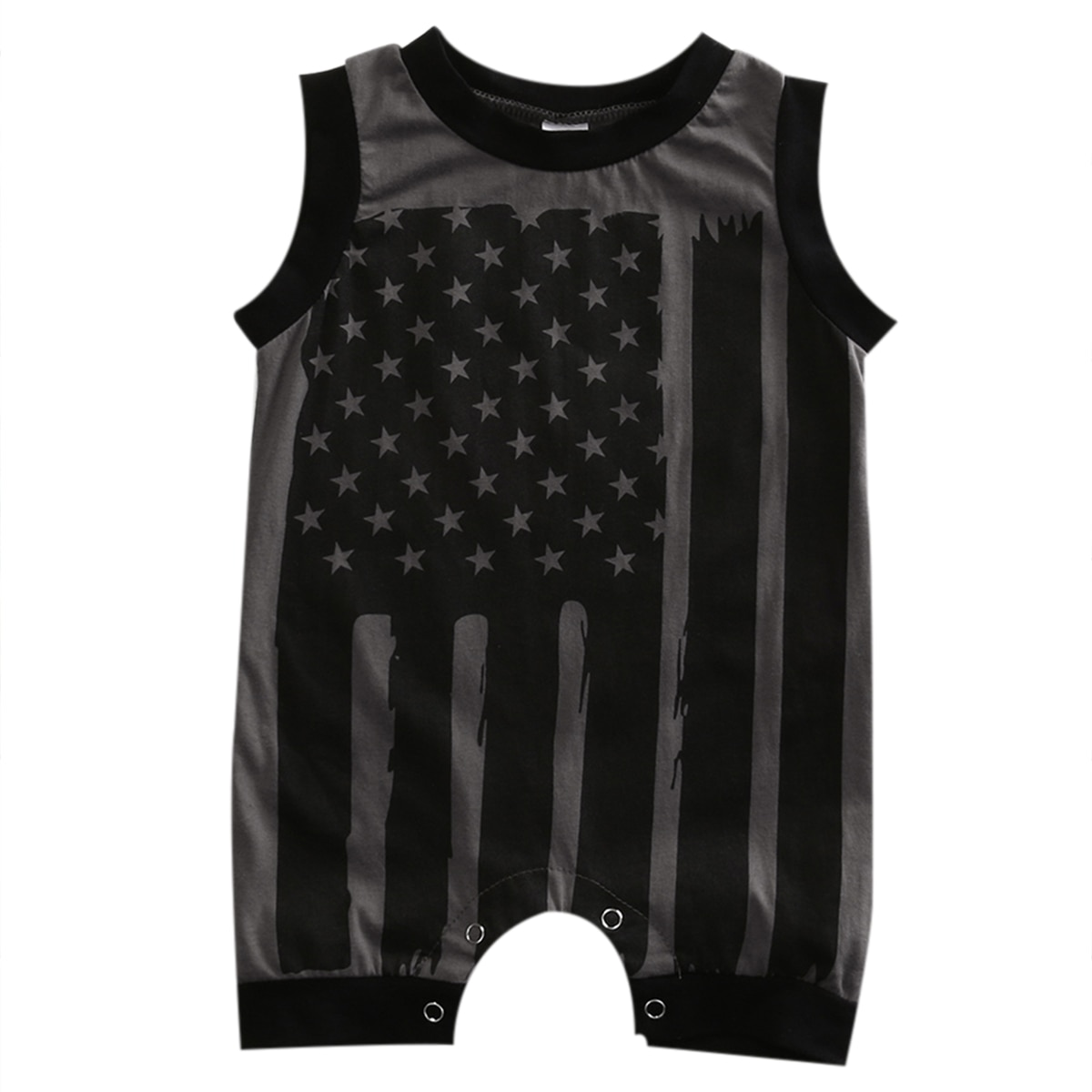 Stock Local bebé niño niña bandera americana mono sin mangas Bodi ropa vestimenta