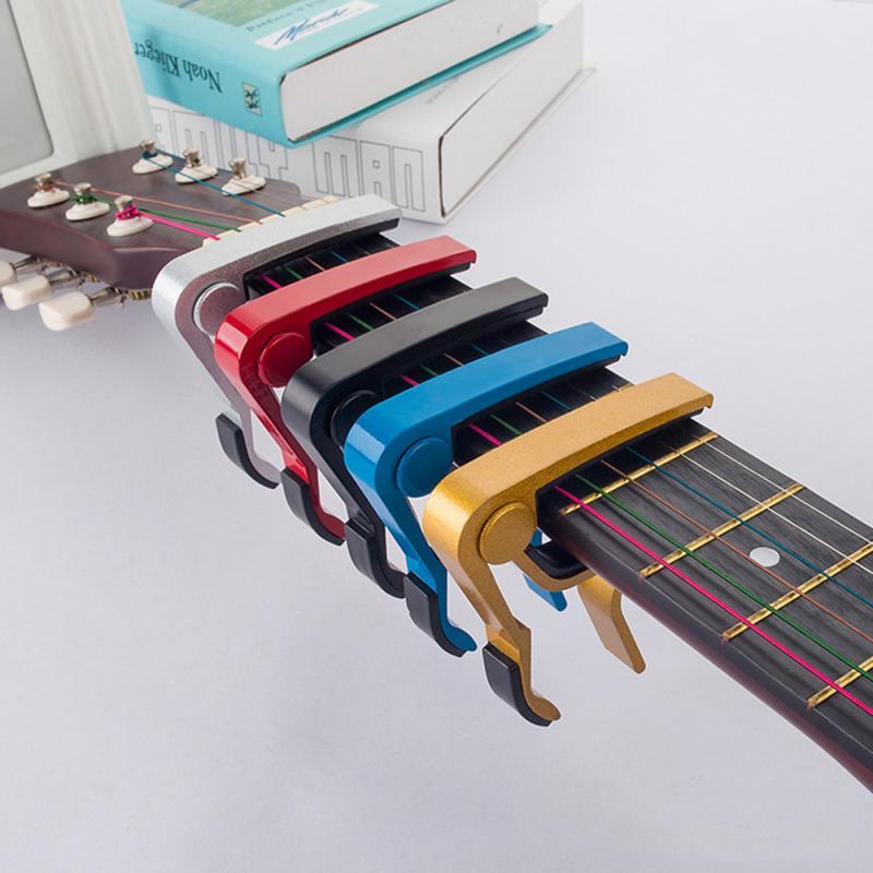 Cejilla de guitarra de aleación de aluminio de alta calidad para ajustar el tono Cambio rápido Llave de sujeción guitarra acústica clásica ukelele accesorio