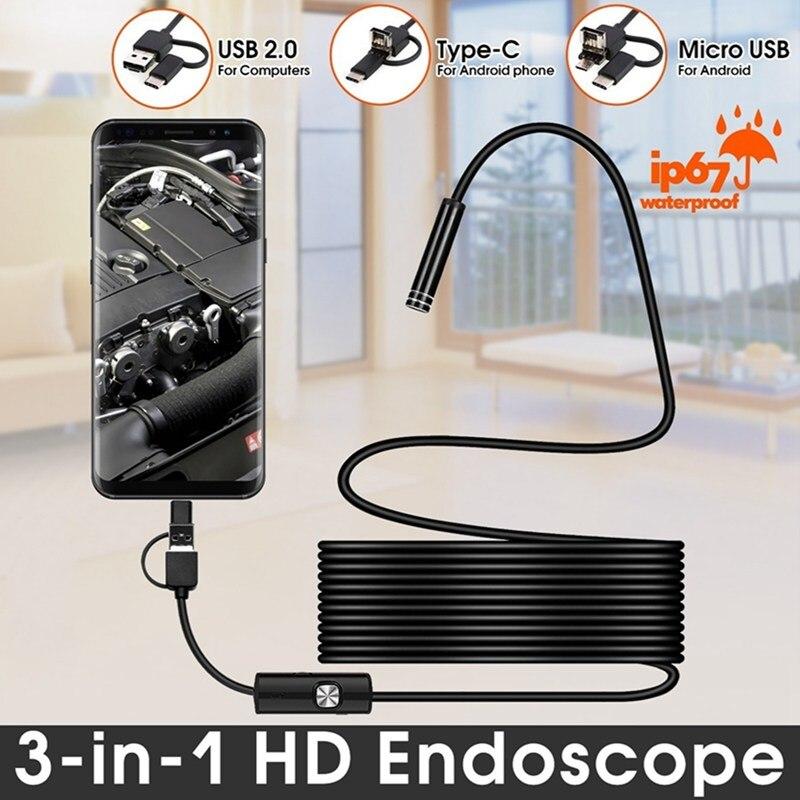 VicTsing 1m 3-in-1 Android Typ-C USB Endoskop Kamera Wifi Endoskop 6 LED Schlange kamera Für Mac OS Windows Auto Reparatur Werkzeuge