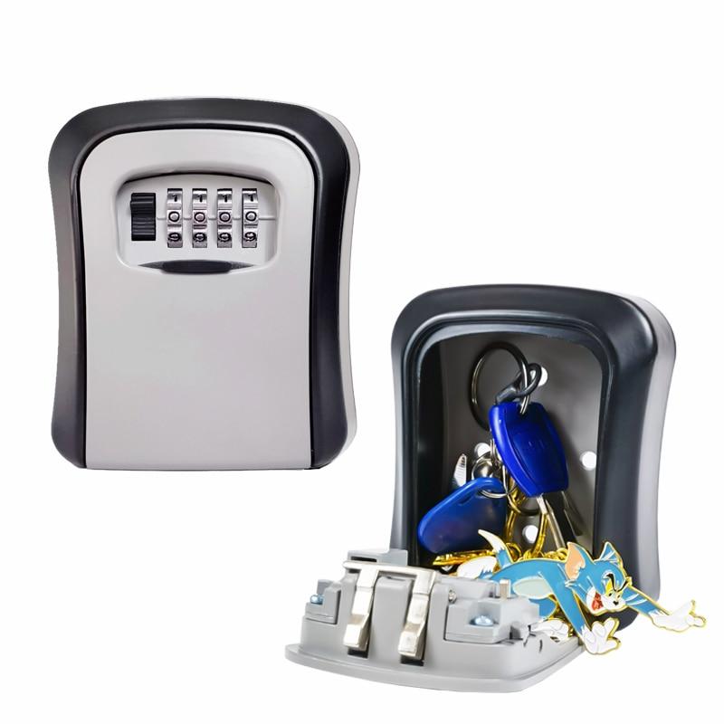 Уличный настенный Сейф с 4 цифровыми комбинированными клавишами, Сейф для хранения ключей, сейф с паролем