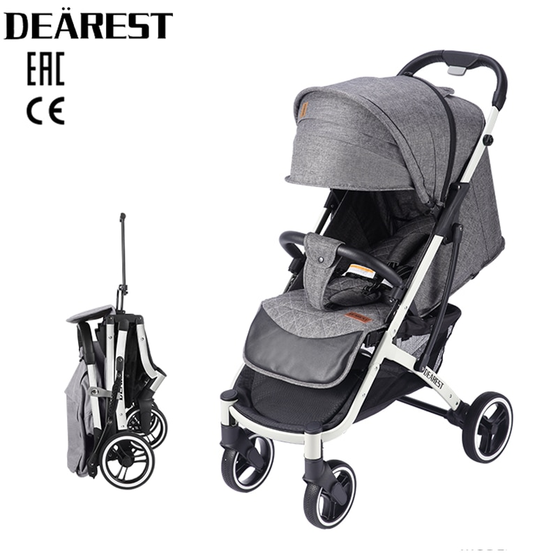 Dearest  Baby Stroller 2021 New 818 Plus Foldable With Wind Shield Foot Cover Four Wheels Foldable Free shipping in Russia enlarge