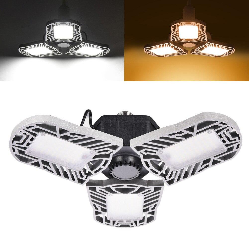 Складной светодиодный светильник для гаража, регулируемые панели, деформируемый потолочный светильник для гаража, лампа для склада, для до...