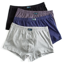 4-packs 2019 nuevos Boxer Pantie Lot calzoncillos sueltos de algodón corto grande más 6XL 7XL 8XL ropa interior Boxer masculino XXXXL