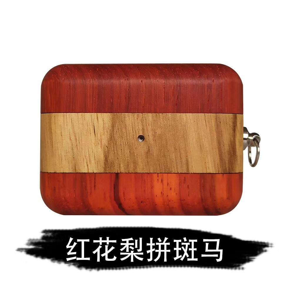For Airpods Case,Colorful Wood Case For Airpods 1/2 Case,Hard Earphone Headphone Cover Case For Apple Airpods Pro Case enlarge