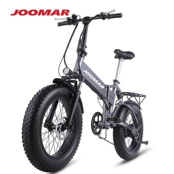 JOOMAR Folding Electric Bike JM21 Plus 48V 500W Motor MTB Outdoor Cycling Mountain Beach Snow Ebike Foldable Bicycle for Men