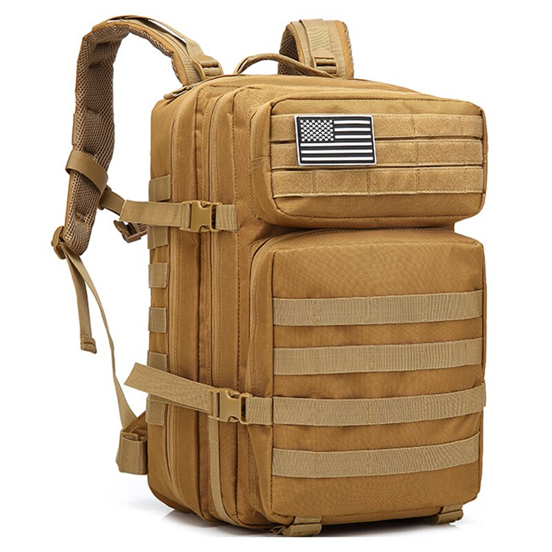45l grande 3 p tático mochila militar saco do exército ao ar livre saco militar tático oxford acampamento ciclismo caminhadas escalada saco de esportes