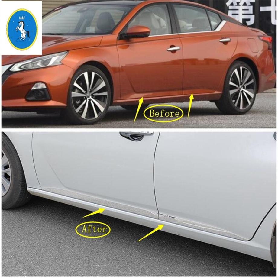Yimaautotrims lado puerta, carrocería de la puerta de la cubierta de protección Kit de accesorios para Nissan Altima Teana 2019 Auto accesorio