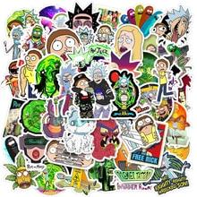 Cartoon Anime Rick And Morti Sticker For Kid Waterproof Skateboard Travel Suitcase Phone Laptop Children's Self-Adhesive Sticker