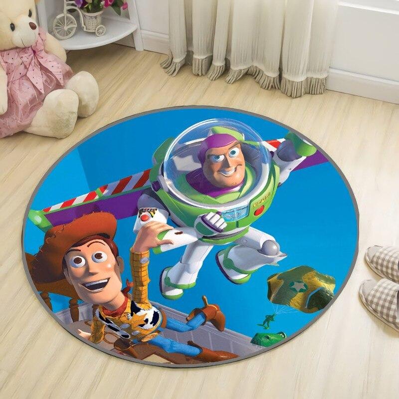 Round 100cm Disney Baby Play Mat Toy Story Carpet Boy Bedroom Rug Living Room Carpet  Anti-Slip  Crawling Mat 55x40 cm cartoon shiba inu carpet dog sleeping mat living room mat toy for bedroom