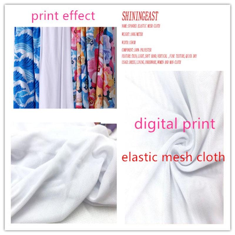 1-6 m/lote 159cm Impresión digital spandex tela de malla elástica personalizado foto tela para vestido forro ropa interior de verano 2075