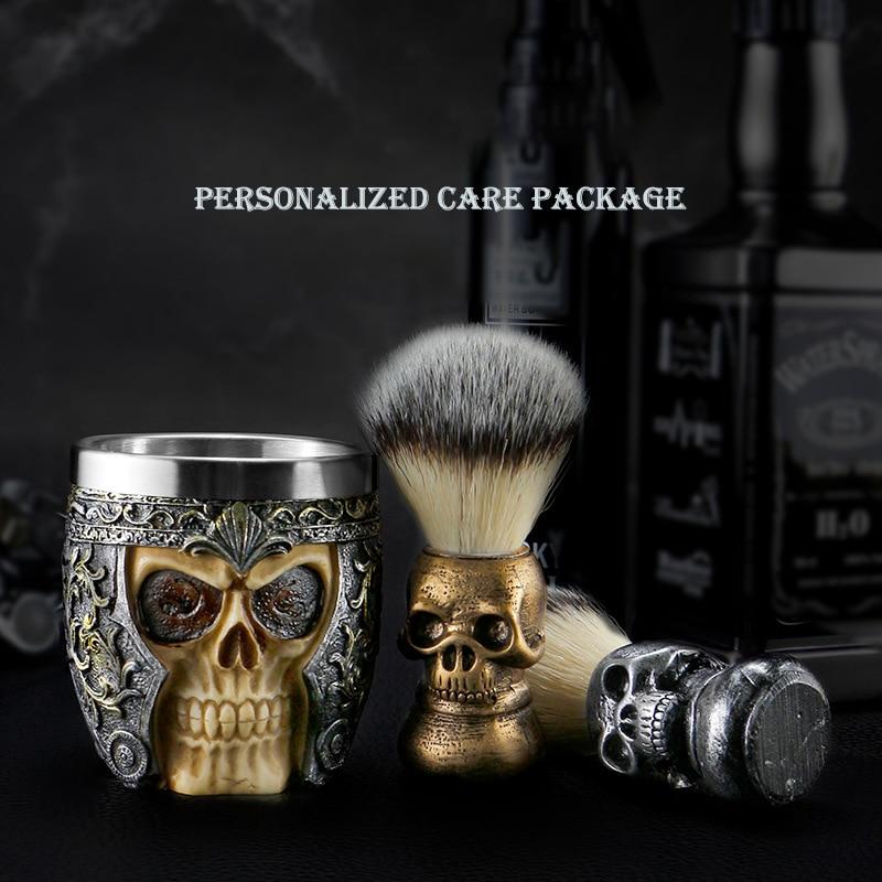 Soft Hair Shaving Foam Brush, Hairdresser Grooming and Shaving Cleansing Cleaning Tool, Men's Creative Shaving Bubble Bowl