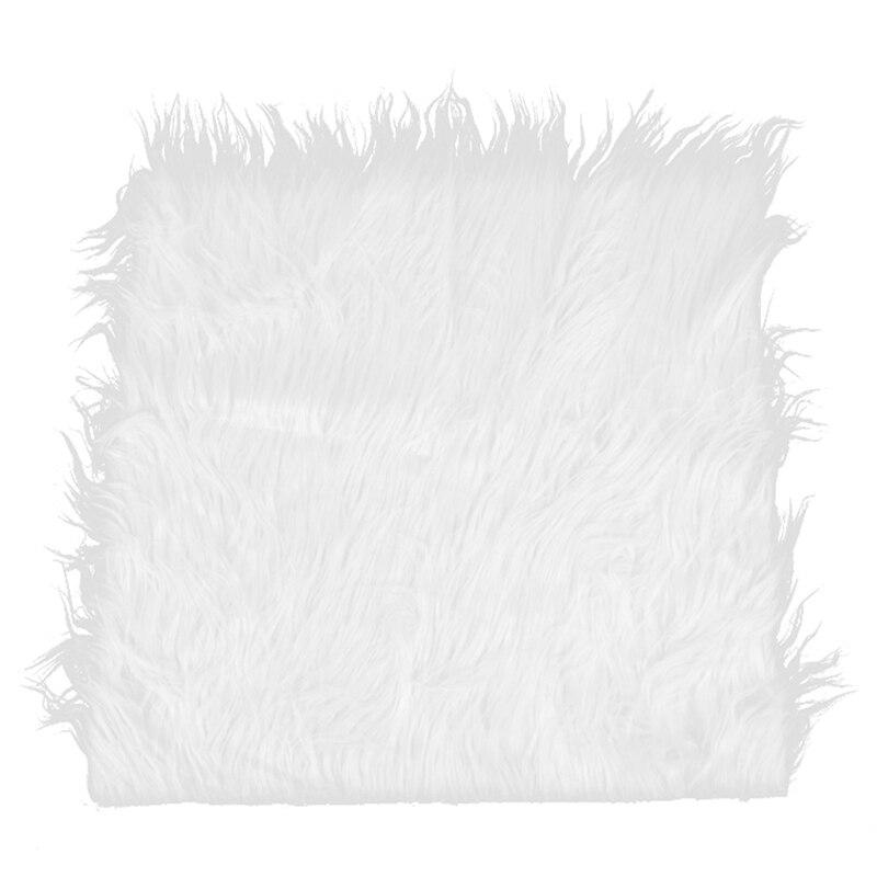 Fondo para fotografía de bebé recién nacido de piel sintética, accesorios para fotografía, cesta de Manta alfombra de relleno, PUF, fondo blanco