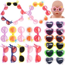 Doll Sunglasses Glasses Cartoon Accessories Fit 18 Inch American Of Girl`s &43Cm Baby New Born Doll