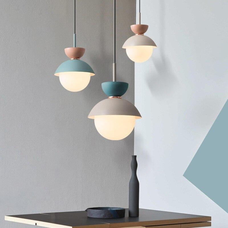 الحديثة قلادة مصباح الشمال كرة زجاجية تركيبات إضاءة معلقة تعليق المطبخ الطعام غرفة نوم ديكور المنزل الإنارة الثريا