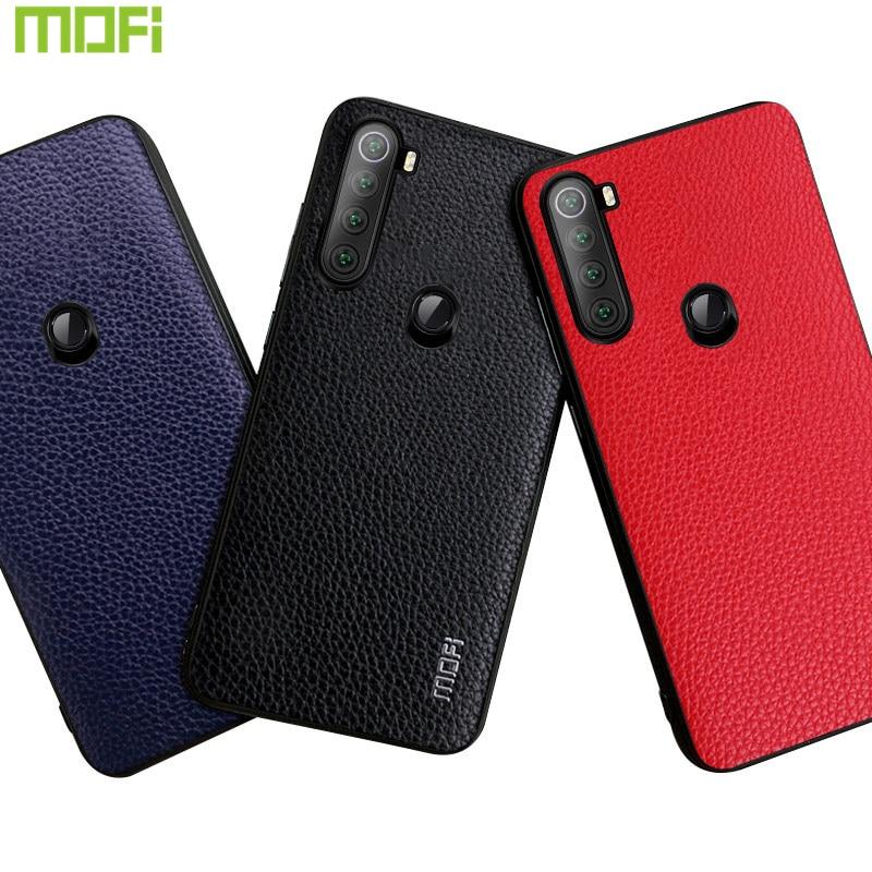 Redmi Note 8 funda Mofi para Xiaomi Redmi Note 8 Pro funda Pu cuero grano Protector de negocios teléfono guante para Xiaomi Redmi Note 8T
