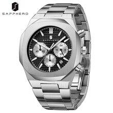 SAPPHERO 2021 New Watch for Men Waterproof Stainless Steel Chronograph Quartz Movement Casual Luxury