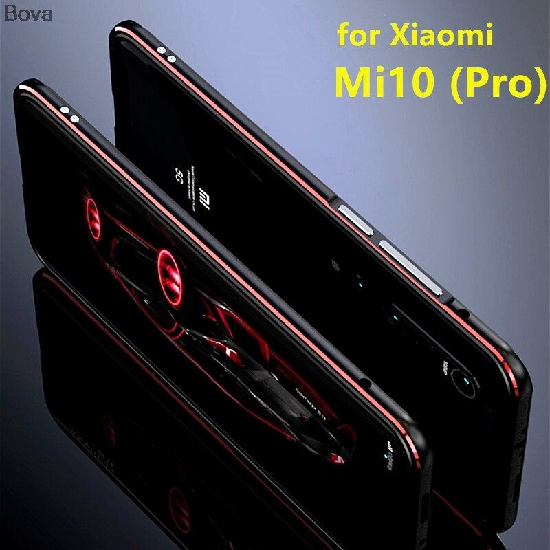Case For Xiaomi Mi 10 Luxury Deluxe Ultra Thin aluminum Bumper For Xiaomi Mi 10 Pro Mi10 5G + 2 Film (1 Front +1 Rear)